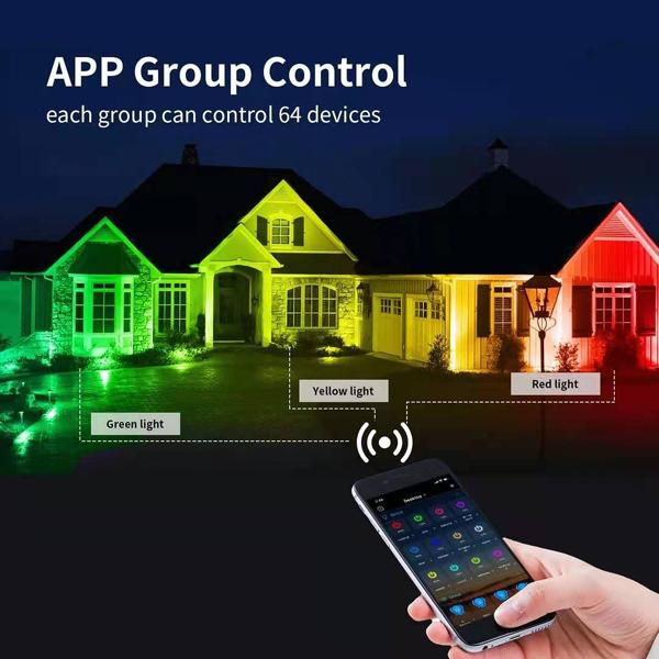 APP Group control smart led floodlight
