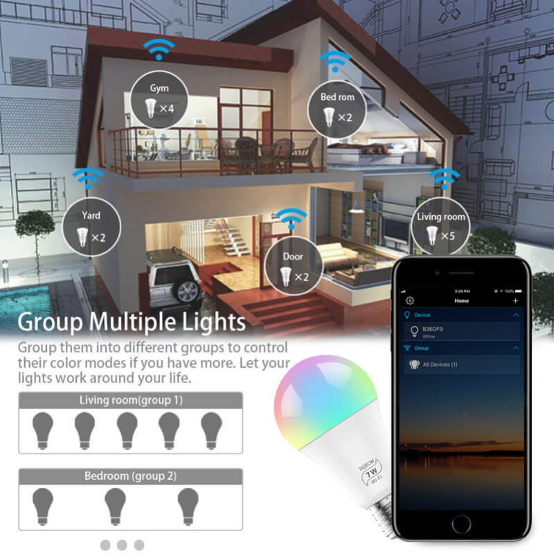 wifi smart lights bulb